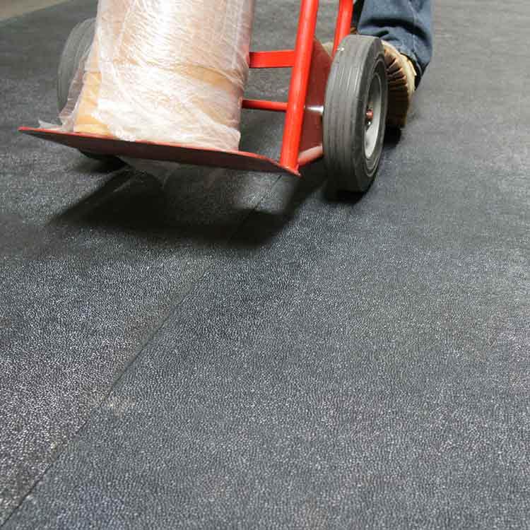 Tuff n Lastic anti slip flooring under ladder tool