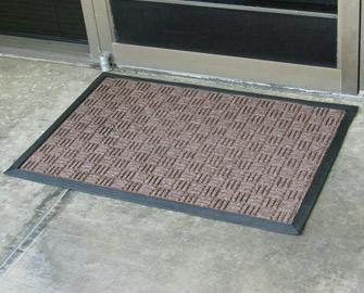 Brown Wellington Doormat in entryway