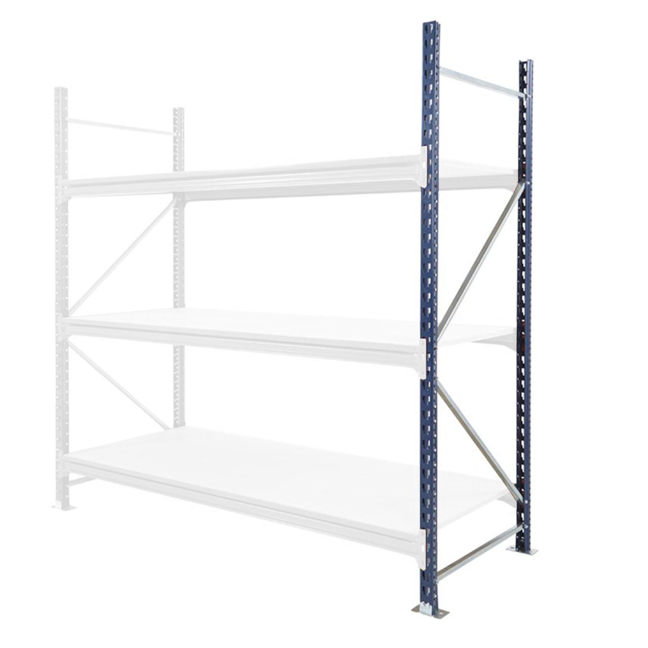 Mecalux Longspan Warehouse Racking End Frame, Depth 20mm   Max 20kg UDL
