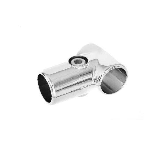 Chrome 3-Way T-Shape Clamp for 25mm Dia. Chrome Tube Rail