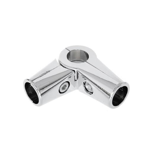 Chrome Premium 4-Way Adjustable Clamp for 25mm Dia. Chrome Tube Rail