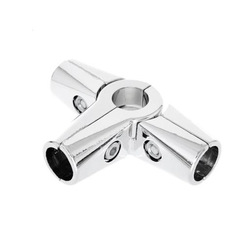 Chrome Premium 5-Way Adjustable Clamp for 25mm Dia. Chrome Tube Rail