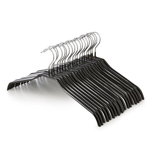 Black Non-Slip Coated Metal Knitwear Hangers - 42 cm