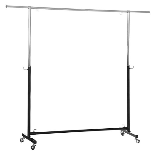 Black & Chrome Adjustable Clothes Rail