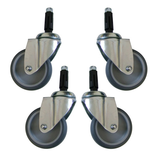 Heavy Duty Wheels For Reinforced Heavy Duty Clothes Rail - Set of 4