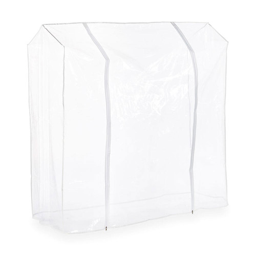 4ft Clear Childrens Clothes Rail Cover Double Zip