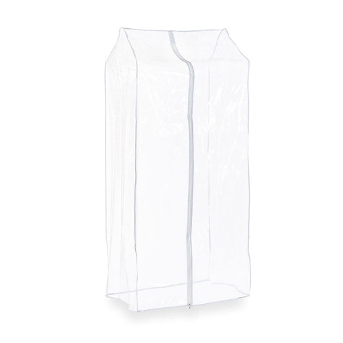 2ft Clear Clothes Rail Cover Single Zip