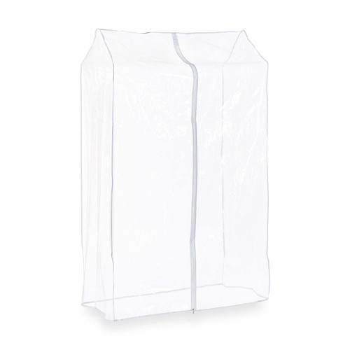 3ft Clear Clothes Rail Cover Single Zip