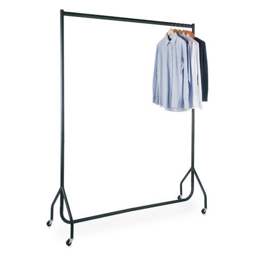 Tall Black Heavy-Duty Clothes Rail
