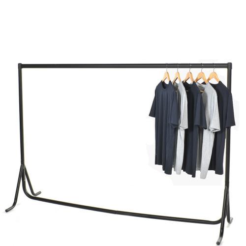 Fishtail Black Heavy-Duty Clothes Rail