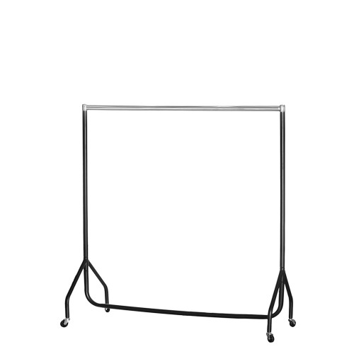 Childrens Black & Chrome Heavy-Duty Clothes Rail