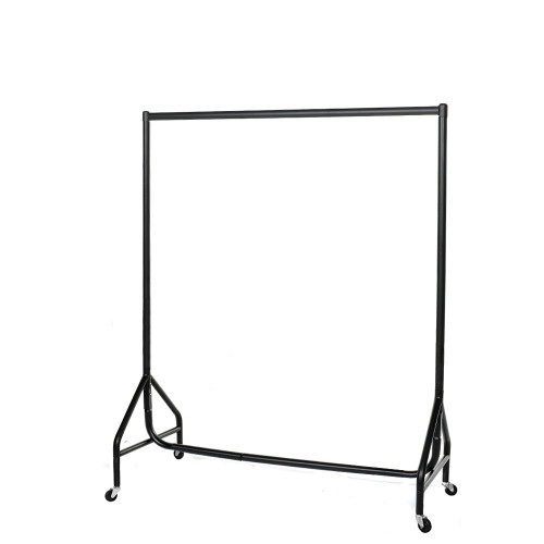 Reinforced Black Heavy-Duty Clothes Rail