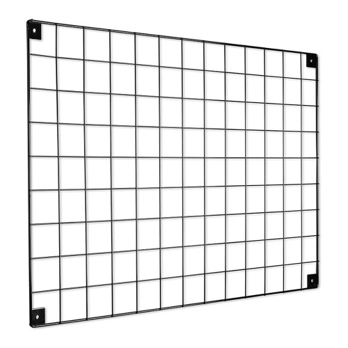 Black Grid Mesh Panel - Built-in Wall Brackets