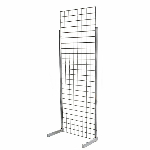 6ft Gridwall Mesh Heavy-Duty Single Sided Stand
