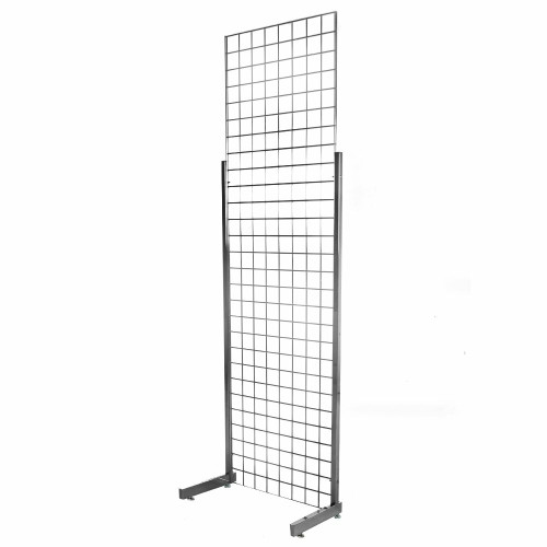 7ft Gridwall Mesh Heavy-Duty Single Sided Stand