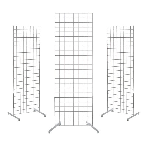 3 x 6ft Gridwall Mesh Two Way Stands