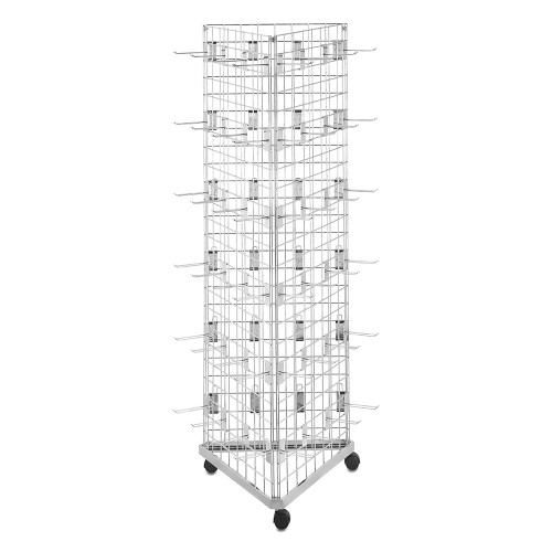 6ft Three-Sided Grid Mesh Display Bundle With 72 x Eurohooks