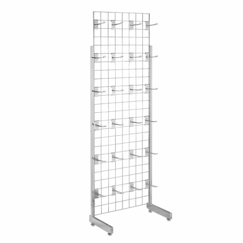 6ft Single-Sided Grid Mesh Display Bundle With 24 x Eurohooks