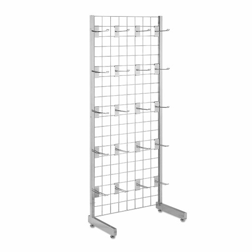 5ft Single-Sided Grid Mesh Display Bundle With 20 x Eurohooks