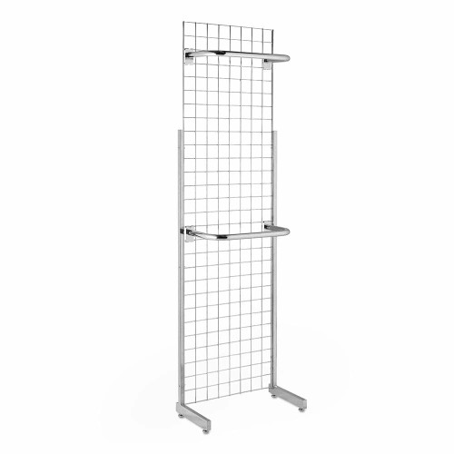 7ft Single-Sided Grid Mesh Display Bundle With 2 x Hanging Rails
