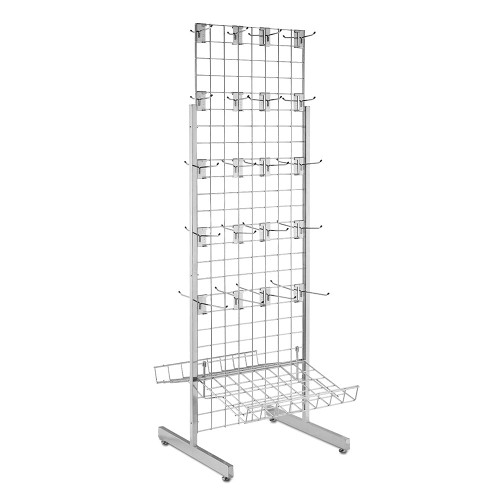 5ft Double-Sided Grid Mesh Display Bundle With 2 x Sloping Arms, 40 x Single Arms