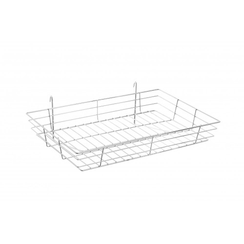 Heavy-Duty Wire Basket For Grid Mesh Panels