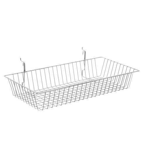 Chrome Wire Basket For Grid Mesh Panels
