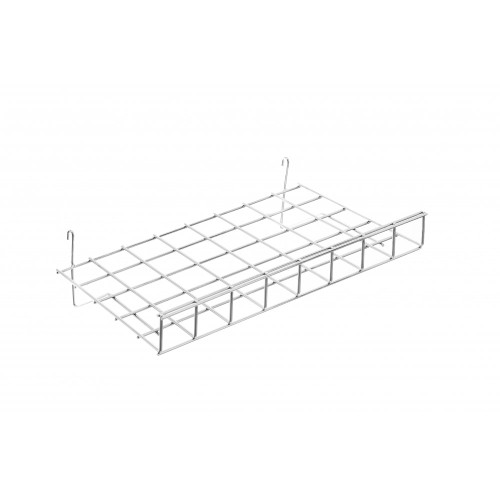 Straight Wire Shelf With Lip For Grid Mesh Panels