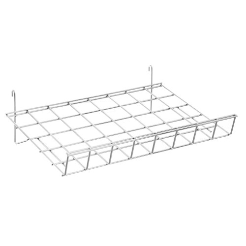 Sloping Wire Shelf With Lip For Grid Mesh Panels
