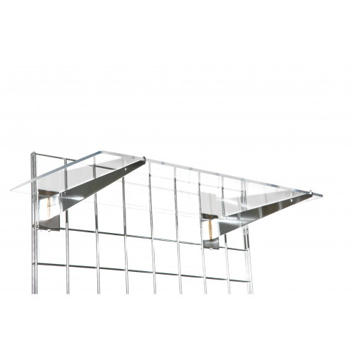 Acrylic Shelf Complete With Brackets For Grid Mesh Panels