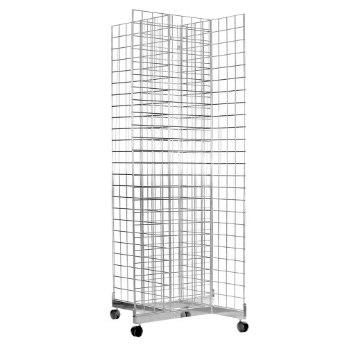 Four-Way Gridwall Mesh Stand - W610 x D610 mm