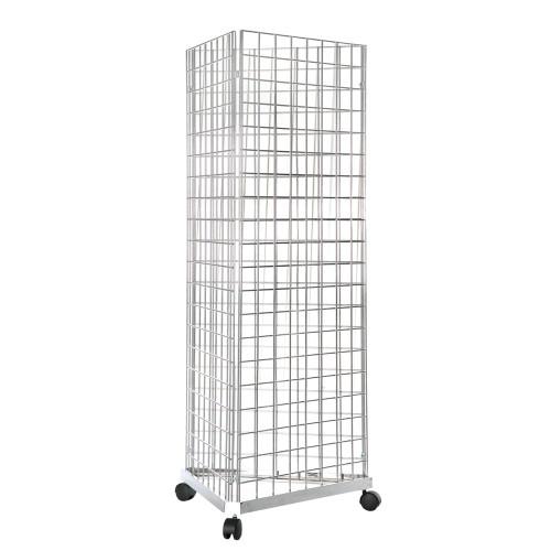 Three-Way Gridwall Mesh Stand - W610 x D610 mm