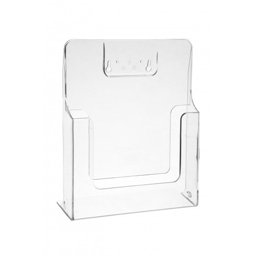 Clear Leaflet Holders/Dispensers For Grid Mesh Panels