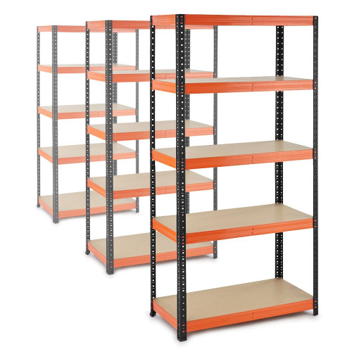 3 x Multipurpose Commercial Shelving - Up to 250Kg UDL Per Shelf - H1800 x W900 x D400 mm