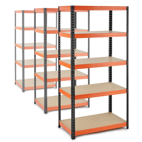 3 x Multipurpose Commercial Shelving - Up to 250Kg UDL Per Shelf - H1800 x W900 x D500 mm
