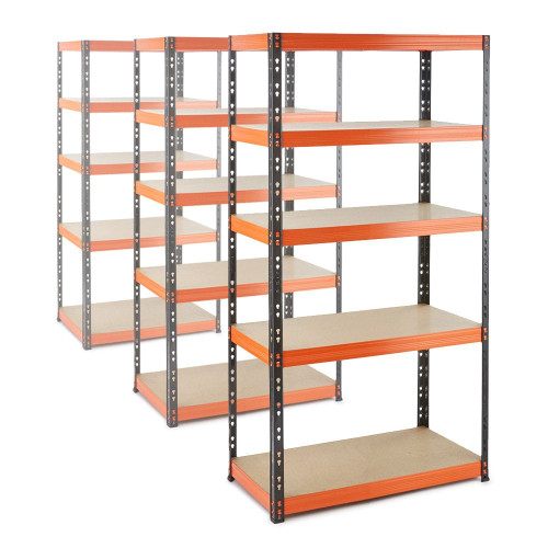 3 x Multipurpose Commercial Shelving - Up to 320Kg UDL Per Shelf - H1800 x W900 x D400 mm