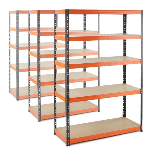 3 x Multipurpose Commercial Shelving - Up to 350Kg UDL Per Shelf - H1800 x W1200 x D400 mm