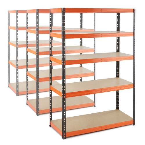3 x Multipurpose Commercial Shelving - Up to 350Kg UDL Per Shelf - H1800 x W1200 x D500 mm