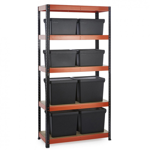 Multipurpose Commercial Shelving plus 8 Boxes - 250Kg UDL/shelf - H1800 x W900 x D400 mm