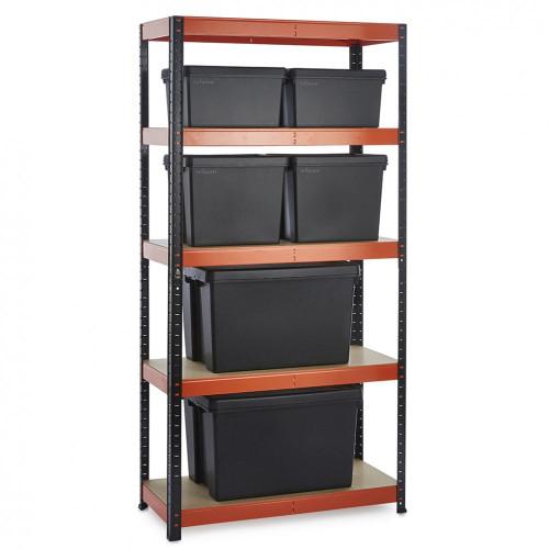 Multipurpose Commercial Shelving plus 6 Boxes - 250Kg UDL/shelf - H1800 x W900 x D400 mm