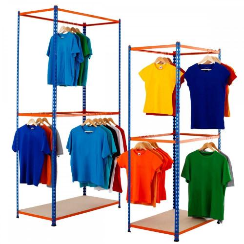 Stockroom Garment Racking Units - Up To 30kg UDL/Tier