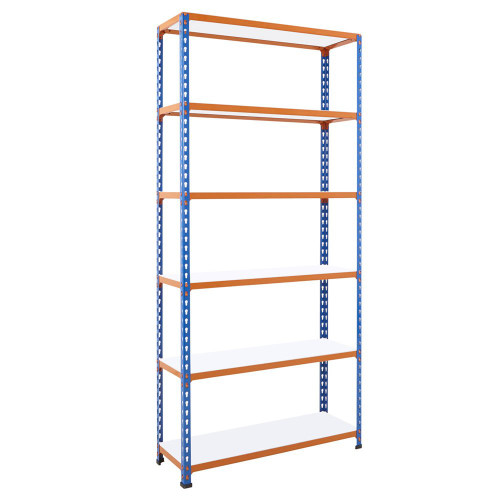 Heavy Duty Commercial Shelving With 6 x Easy Clean Shelves - H1980 x D455mm - 340kg Max UDL/Shelf