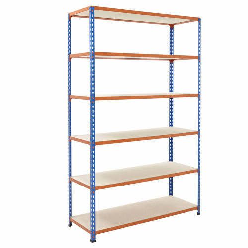 Commercial Shelving With Chipboard Shelves - H1980 x W1220mm - 200kg Max UDL/Shelf