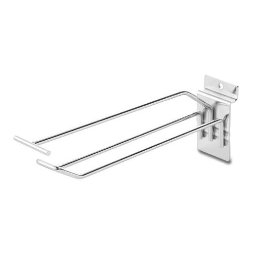 8-Inch Slatwall Euro Hook with Ticket Bar - 200mm