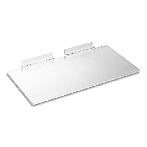 Clear Acrylic Slatwall Shelf - W305 x D150mm
