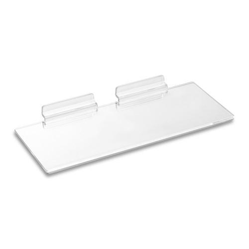 Clear Acrylic Slatwall Shelf - W250 x D100mm