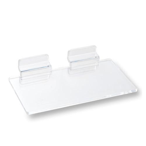 Clear Acrylic Slatwall Shelf - W127 x D76mm