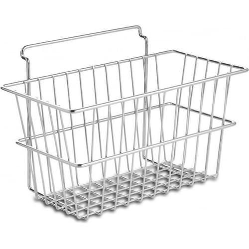Chrome Wire Basket for Slatwall - H152 x W304 x D152mm