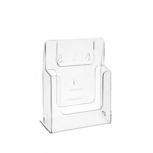Clear Leaflet Holder/Dispenser for Slatwall