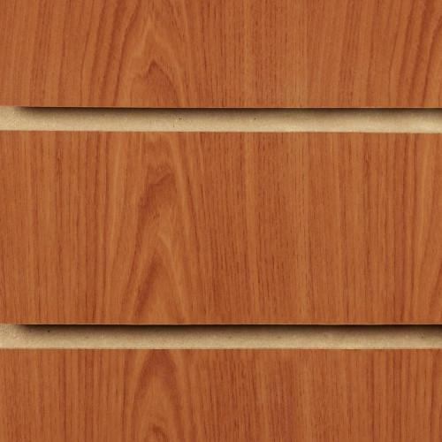 Cherry Slatwall Panel - 100mm Centres - 18mm MDF